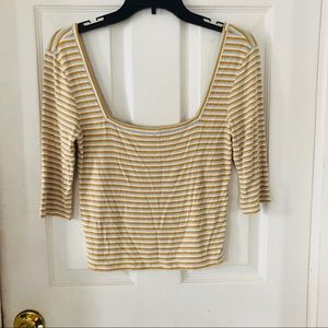 NWOT AMERICAN EAGLE soft & sexy ribbed crop top S